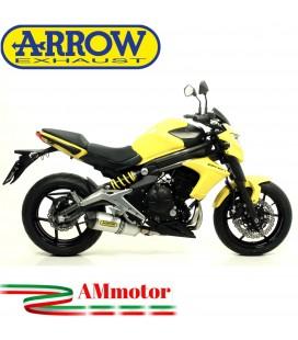 Terminale Di Scarico Arrow Kawasaki ER-6N 12 - 2016 Slip-On Race-Tech Alluminio Moto Fondello Carbonio
