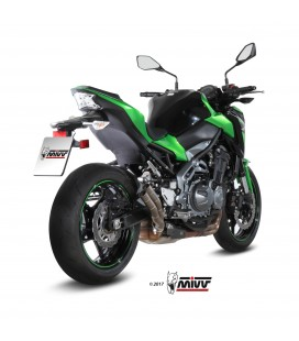 Mivv Kawasaki Z 900 Terminale Di Scarico Marmitta Double Gun Titanio Moto Omologato