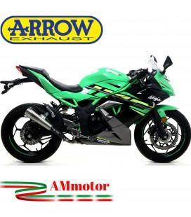 Terminale Di Scarico Arrow Kawasaki Ninja 125 19 - 2020 Slip-On Pro-Race Nichrom Moto