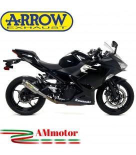 Terminale Di Scarico Arrow Kawasaki Ninja 400 18 - 2020 Slip-On GP2 Titanio Moto