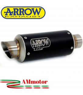 Terminale Di Scarico Arrow Kawasaki Ninja 400 18 - 2020 Slip-On GP2 Dark Moto