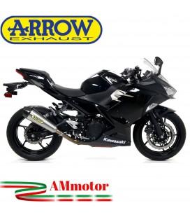 Terminale Di Scarico Arrow Kawasaki Ninja 400 18 - 2020 Slip-On X-Kone Moto
