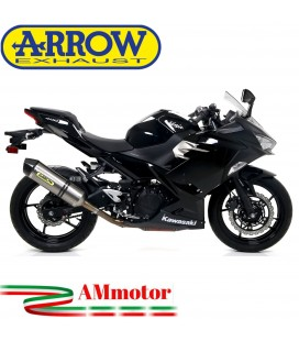 Terminale Di Scarico Arrow Kawasaki Ninja 400 18 - 2020 Slip-On Race-Tech Titanio Moto