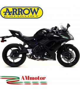 Terminale Di Scarico Arrow Kawasaki Ninja 650 17 - 2019 Slip-On GP2 Dark Moto