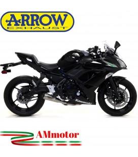 Terminale Di Scarico Arrow Kawasaki Ninja 650 17 - 2019 Slip-On Pro-Race Nichrom Moto