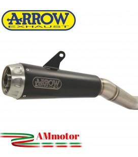 Terminale Di Scarico Arrow Kawasaki Ninja 650 17 - 2019 Slip-On Pro-Race Nichrom Dark Moto