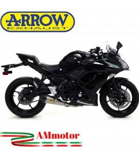 Terminale Di Scarico Arrow Kawasaki Ninja 650 17 - 2019 Slip-On X-Kone Moto