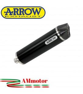 Terminale Di Scarico Arrow Kawasaki Ninja 1000 SX 2020 Slip-On Indy-Race Alluminio Dark Moto Fondello Carbonio