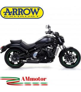 Terminale Di Scarico Arrow Kawasaki Vulcan S 650 17 - 2020 Slip-On Rebel Moto Fondello Carbonio