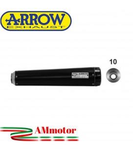 Terminale Di Scarico Arrow Kawasaki Vulcan S 650 17 - 2020 Slip-On Rebel Moto Fondello Alluminio Dark