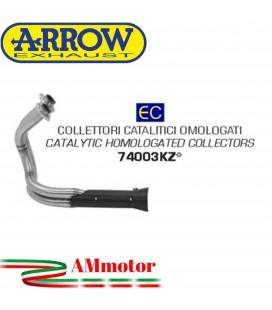 Kawasaki Vulcan S 650 17 - 2020 Arrow Moto Collettori Di Scarico Catalitici Omologato