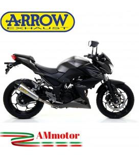 Terminale Di Scarico Arrow Kawasaki Z 300 15 - 2016 Slip-On X-Kone Moto