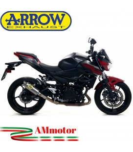 Terminale Di Scarico Arrow Kawasaki Z 400 19 - 2020 Slip-On GP2 Titanio Moto