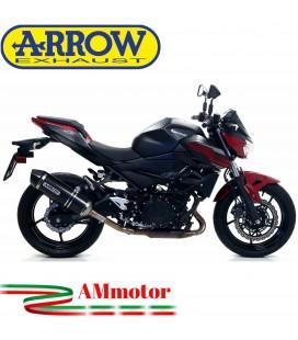 Terminale Di Scarico Arrow Kawasaki Z 400 19 - 2020 Slip-On Race-Tech Carbonio Moto Fondello Carbonio
