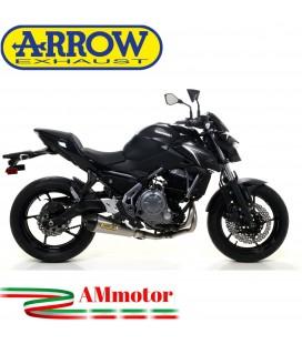 Terminale Di Scarico Arrow Kawasaki Z 650 17 - 2019 Slip-On X-Kone Moto