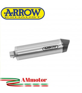Terminale Di Scarico Arrow Kawasaki Z 750 07 - 2014 Slip-On Race-Tech Alluminio Moto Fondello Carbonio