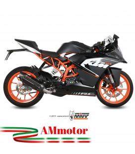 Scarico Completo Mivv Ktm Rc 125 Terminale Suono Black Moto