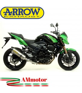 Terminale Di Scarico Arrow Kawasaki Z 750 R 11 - 2014 Slip-On Race-Tech Titanio Moto Fondello Carbonio