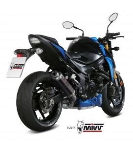 Mivv Suzuki Gsx-S 750 Terminale Di Scarico Marmitta Gp Black Moto Omologato