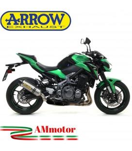 Terminale Di Scarico Arrow Kawasaki Z 900 17 - 2019 Slip-On Race-Tech Titanio Moto Fondello Carbonio