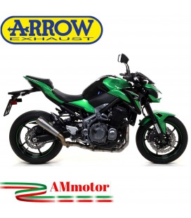 Terminale Di Scarico Arrow Kawasaki Z 900 17 - 2019 Slip-On Pro-Race Titanio Moto