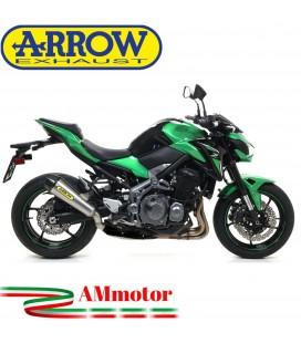 Terminale Di Scarico Arrow Kawasaki Z 900 17 - 2019 Slip-On X-Kone Moto