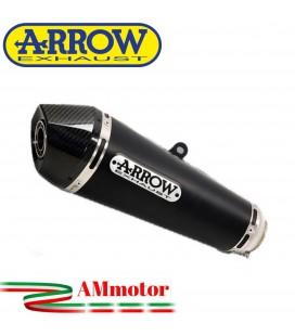 Terminale Di Scarico Arrow Kawasaki Z 900 17 - 2019 Slip-On X-Kone Dark Moto