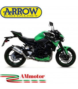 Terminale Di Scarico Arrow Kawasaki Z 900 2020 Slip-On Street Thunder Alluminio Moto Fondello Carbonio