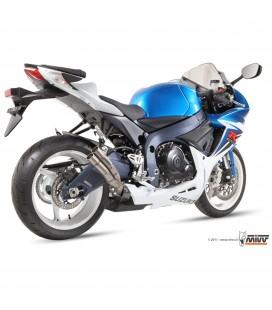 Mivv Suzuki Gsx-R 600 Terminale Di Scarico Marmitta Double Gun Titanio Moto Omologato