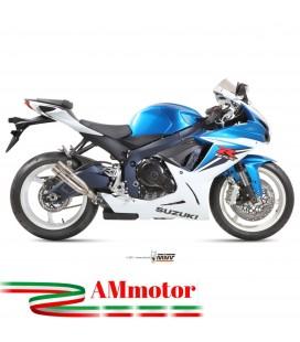 Mivv Suzuki Gsx-R 750 Terminale Di Scarico Marmitta Double Gun Titanio Moto Omologato