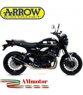 Terminale Di Scarico Arrow Kawasaki Z 900 RS 17 - 2020 Slip-On Rebel Moto Fondello Carbonio