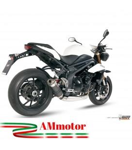 Mivv Triumph Speed Triple 1050 Terminale Di Scarico Marmitta Gp Carbonio Moto Omologato Basso