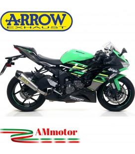 Terminale Di Scarico Arrow Kawasaki ZX-6R 636 19 - 2020 Slip-On X-Kone Moto