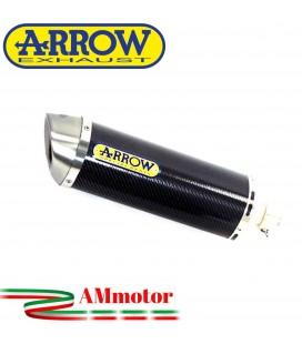 Terminale Di Scarico Arrow Kawasaki ZX-6R 636 19 - 2020 Slip-On Race-Tech Carbonio Moto