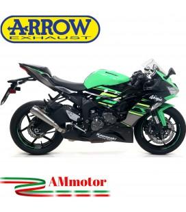 Terminale Di Scarico Arrow Kawasaki ZX-6R 636 19 - 2020 Slip-On Pro-Race Nichrom Moto