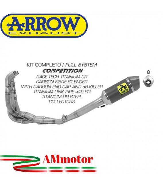 Arrow Kawasaki ZX-6R 636 19 - 2020 Kit Completo Competion Full Titanio Con Terminale Race-Tech Carbonio