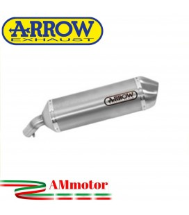 Terminale Di Scarico Arrow Kawasaki Versys 650 07 - 2014 Slip-On Maxi Race-Tech Alluminio Moto