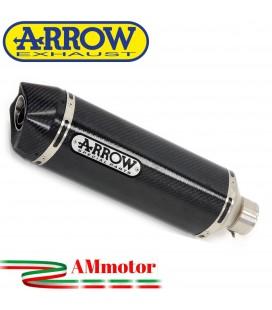 Terminale Di Scarico Arrow Kawasaki Versys 650 15 - 2016 Slip-On Race-Tech Carbonio Moto Fondello Carbonio