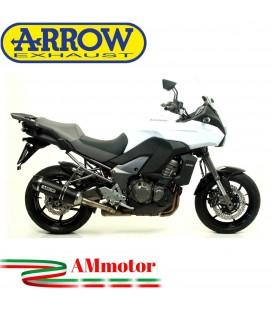Terminale Di Scarico Arrow Kawasaki Versys 1000 12 - 2014 Slip-On Race-Tech Alluminio Dark Moto Fondello Carbonio