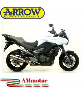 Terminale Di Scarico Arrow Kawasaki Versys 1000 12 - 2014 Slip-On Race-Tech Titanio Moto Fondello Carbonio