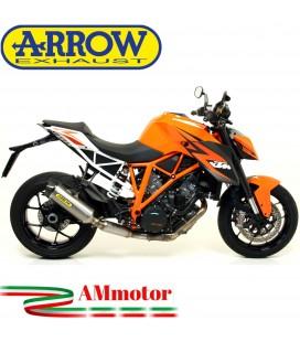 Terminale Di Scarico Arrow Ktm 1290 Superduke 14 - 2016 Slip-On Race-Tech Titanio Moto Fondello Carbonio