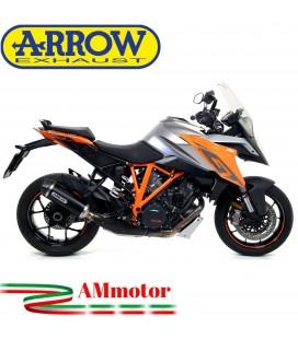 Terminale Di Scarico Arrow Ktm 1290 Superduke GT 17 - 2018 Slip-On Race-Tech Alluminio Dark Moto Fondello Carbonio