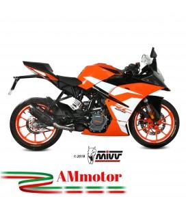 Mivv Ktm Rc 125 Terminale Di Scarico Marmitta Suono Black Moto Omologato