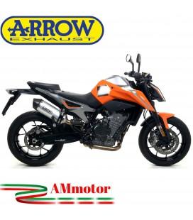 Terminale Di Scarico Arrow Ktm 790 Duke 18 - 2020 Slip-On Race-Tech Alluminio Moto Fondello Carbonio