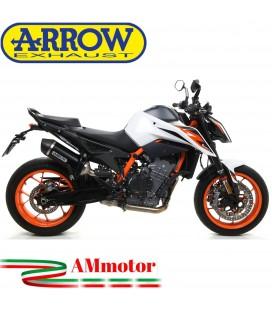 Terminale Di Scarico Arrow Ktm 890 Duke R 2020 Slip-On Race-Tech Alluminio Dark Moto Fondello Carbonio