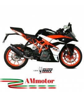 Mivv Ktm Rc 390 Terminale Di Scarico Marmitta Suono Black Moto Omologato