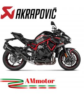 Akrapovic Kawasaki Z H2 Terminale Di Scarico Slip-On Line Titanio Moto Omologato