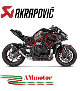 Akrapovic Kawasaki Z H2 Terminale Di Scarico Slip-On Line Titanio Moto Racing