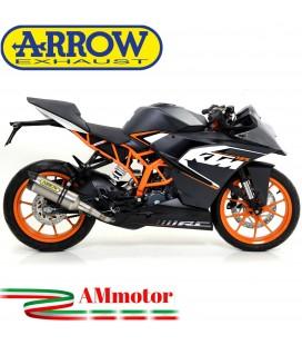 Terminale Di Scarico Arrow Ktm RC 125 15 - 2016 Slip-On Thunder Titanio Moto Fondello Carbonio