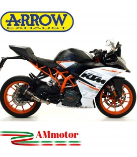 Terminale Di Scarico Arrow Ktm RC 125 17 - 2020 Slip-On GP2 Dark Moto